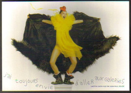 "Carte Postale ""Cart'Com"" (2001) - Laetitia Casta Vue Par Jean-Paul Goude - Galleries Lafayette - Reclame"