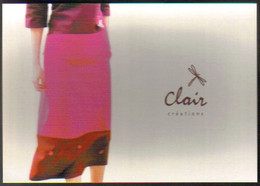 """Carte Postale """"Cart'Com"""" (2001) - Clair Créations (mode Et Décoration) Collection été - Reclame"""