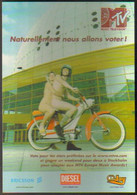 "Carte Postale ""Cart'Com"" (2000) - MTV Europe Music Awards (nudistes Sur Une Moto) Grand Jeu-concours - Reclame"