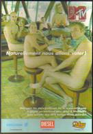 "Carte Postale ""Cart'Com"" (2000) - MTV Europe Music Awards (nudistes Dans Un Bar) Grand Jeu-concours - Reclame"