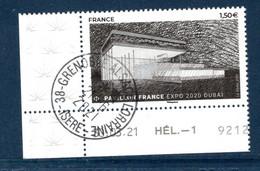 France 2021.issu De La Mini Feuille Pavillon De France Dubai..Cachet Rond Gomme D'origine. - Used Stamps
