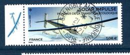 France 2021.issu De La Mini Feuille Solar Impulse..Cachet Rond Gomme D'origine. - Used Stamps