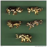 ANIMAUX D'AFRIQUE *** Lot De 5 Pin's Differents *** 2117 - Animaux