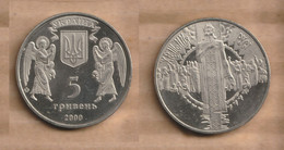 UCRANIA 5 Hryven (Christmas) 1999 Nickel Brass • 16.54 G • ⌀ 35 Mm KM# 84 - Ucrania