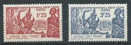 A.E.F. YT N°70/71 Exposition Internationale New York 1939 Neuf ** - Ungebraucht