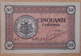 Péronne ( 80 - Somme ) 50 Centimes Chambre De Commerce 27 Juillet 1920 - Chambre De Commerce