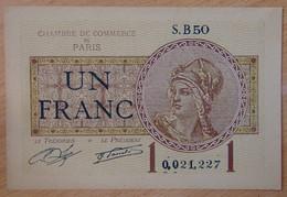 Paris ( 75 - Seine ) 1 Franc Chambre De Commerce 10-03-1920 - Chambre De Commerce