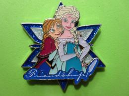 Gros Pin's BD Disney Elsa & Anna (Double Moule) La Reine Des Neiges - 7C20 - Disney