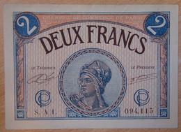 Paris ( 75 - Seine ) 2 Francs Chambre De Commerce 10-03-1920 Série A.1 - Chambre De Commerce