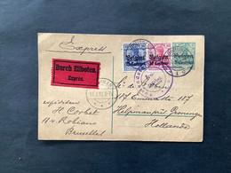 """OC3+4 Op Postkaart EXPRES - BRUSSEL - GRONINGEN (NL) """"Auslandsstelle Aachen"""" - [OC1/25] Gen.reg."""