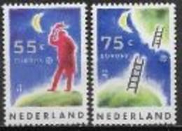 Pays Bas 1991 N° 1379/1380 Europa L'Europe Et L'espace - 1991