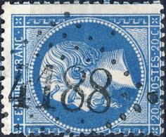 France - Yv.22 20c Empire Dentelé - Obl. GC 4188 (indice 7 - VIC-S-SEILLE, Moselle) B+/TB - 1849-1876: Classic Period