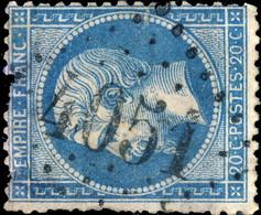 France - Yv.22 20c Empire Dentelé - Obl. GC 4051 (indice 5 - URIAGE, Isère) Défectueux - 1849-1876: Classic Period