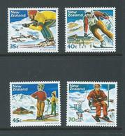 New Zealand 1984 Ski Fields Set Of 4 MNH - Unused Stamps