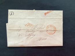 LAC 1848 LE ROEULX - MONS - PP IN ROOD / APRES LE DEPART / BOITE RURALE I - 1830-1849 (Unabhängiges Belgien)
