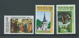 New Zealand 1984 Christmas Set Of 3 MNH - Unused Stamps