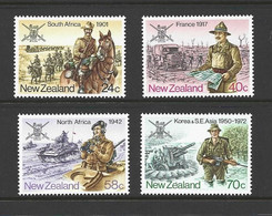 New Zealand 1984 Armed Forces Military Campaigns Set Of 4 MNH - Unused Stamps