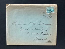 OBP 725 Op Briefomslag Gestempeld WALHAIN ST PA|UL - Briefe U. Dokumente