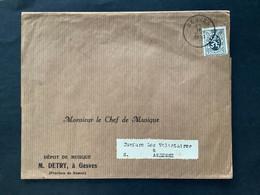 """OBP 279 Op Briefomslag [enkelfrankering] GESVES - """"Fanfare Les Volontaires"""" / Monsieur Le Chef De Musique"""" - 1929-1937 Heraldic Lion"""