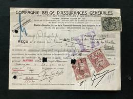 OBP 146 Op Kwitantie Gestempeld MANAGE - 1915-1920 Albert I.