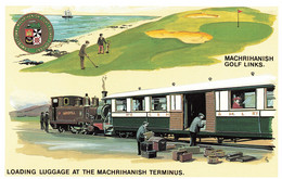 R569395 Loading Luggage At Machrihanish Terminus. Golf Links. Campbeltown And Machrihanish Light Railway Company. Dalkei - Welt