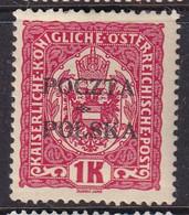 POLAND 1919 Krakow Fi 45I Mint Hinged Signed Petriuk I-48 - Ongebruikt