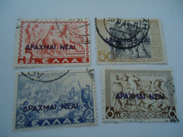 GREECE USED STAMPS  1944   NEW CURRENCY   OVERPRINT - Ohne Zuordnung