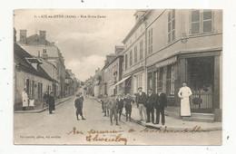 Cp , 10 , AIX EN OTHE , Rue Notre Dame ,commerce ,boucherie ,boucher ,écrite 1920 - Otros Municipios