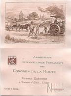 Carte - Association Des Congrès De La Route - 1914 - Illustration De ROBIDA - - Auto's