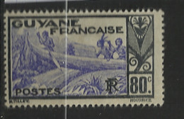 GUYANE           N°  YVERT  :   122 A NEUF AVEC  CHARNIERES      ( CH  4 / 18  ) - Unused Stamps