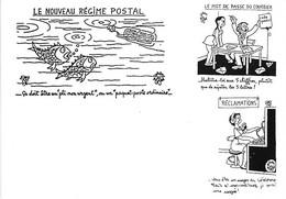 Poste Postes - Humoristique - Humour - Nouveau Régime Postal - Mot Passe Courrier - Réclamations - Pli Non Urgent - Postal Services