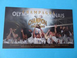 Etiquette Neuve Olympique Lyonnais Champion De France 2002 2003 - Champagne