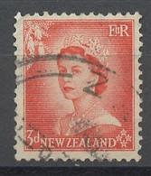 Nouvelle Zélande - Neuseeland - New Zealand 1954-57 Y&T N°331 - Michel N°336 (o) - 3p Elisabeth II - Used Stamps