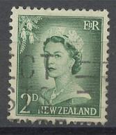 Nouvelle Zélande - Neuseeland - New Zealand 1956-59 Y&T N°354 - Michel N°356 (o) - 2p Elisabeth II - Used Stamps