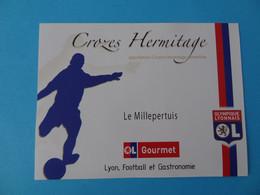 Etiquette Neuve Olympique Lyonnais Football Crozes Hermitage Le Millepertuis - Calcio