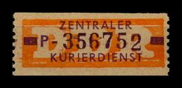 DDR ZKD 1958 Nr 22 P Postfrisch (400649) - Dienstzegels