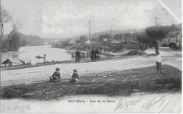 PORT-MARLY - VUE DE LA SEINE - CARTE PRECURSEUR BIEN ANIMEE - 1903 - Marly Le Roi