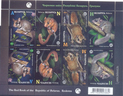 2021. Belarus, Fauna, Red Book, Rodents, S/s, Mint/** - Belarus