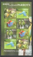 NW0416 2019 !!! SALE PENRHYN BIRDS PARROTS #904-7 MICHEL 190 EURO SH MNH - Papageien