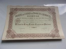 USINES DE PRODUITS CHIMIQUE DE DOMENE (imprimerie RICHARD) Grenoble,isère - Non Classificati