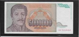 Yougoslavie - 5000000 Dinara - Pick N°132 - SPL - Yougoslavie