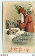 N°15772 - A Hearty Greeting - Père Noël Déposant Des Poupées Dans Des Chausettes - Altri