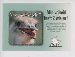 (oiseau Autruche) Ma Liberté A Deux Roues... De Drôles D'oiseaux ? Motor Cycle Council  Permis Moto Européen - Advertising