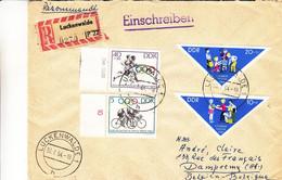 Allemagne - République Démocratique - Lettre Recom De 1964 - Oblit Luckenwalde - Jeux Olympiques - Cyclisme - - Brieven En Documenten