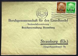STRASBURG - 1941 - 3pf + 5pf SURCHARGÉ Elsaß - Alsace-Lorraine