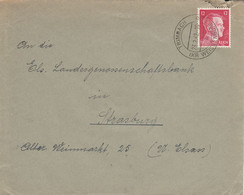 Env Affr Michel 827 Obl TRIMBACH / (KR WEISSENBURG) Du 23.2.42 Adressée à Strasffburg - Alsace Lorraine