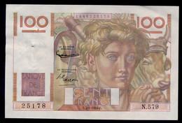 France 100 Francs PAYSAN 7-1-1954.C.   SUP+ - 100 F 1945-1954 ''Jeune Paysan''
