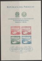 PARAGUAY - 1961 Bridge Souvenir Sheet. Scott C277a. MNH - Paraguay