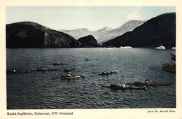 Grönland, Kajak-Jagdflotte, Niokornat, NW Grönland, Photo Dr. Arnold Heim - Groenlandia