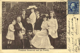 President Roosevelt And His Family + Beau Timbre 5 Cent RV - Presidenti